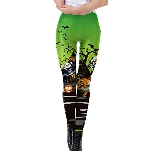 Auiyut Damen Elastic Leggings Pants Halloween Kostüm Frauen Hosen mit Bedruckte Yogahose Laufset Jogginghose Tights Trainingshose Freizeithose Party - Göttin Kostüm Für Jugendliche