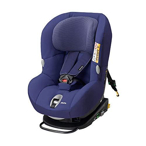 Maxi-Cosi MiloFix Kindersitz, Gruppe 0+ /1 Autositz (0-18 kg), Reboarder mit Isofix, nutzbar ab der Geburt bis ca. 4 Jahre, river blue (Blue Hosenträger Royal)