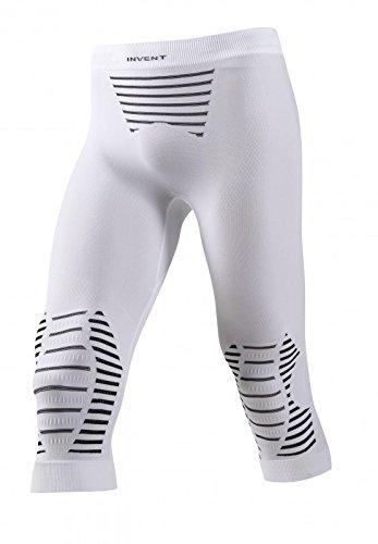 X-Bionic Erwachsene Funktionsbekleidung Man Invent UW Pants Medium, White/Black, XXL, I020285
