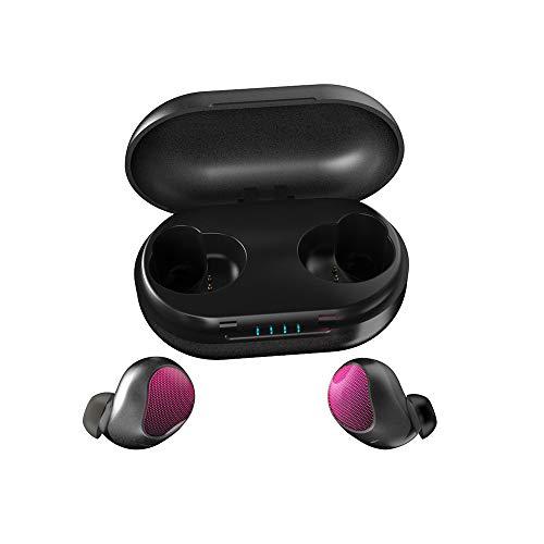Berühren Sie Drahtlose Bluetooth Headset Noise Reduction Stereo Touch Bluetooth Headset 5.0 Wireless Mini Unsichtbare Sport Läuft Kopfhörer Für PC/Mobile / TV/Action,Pink