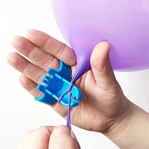 housesweet Herramienta para atar balones Nudo anudado Dispositivo Accesorio Anudamiento Tanques de helio Soplador de globo eléctrico