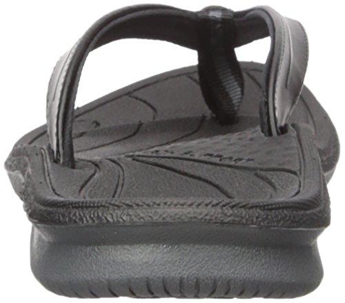 New Balance Women's Cush Thong Sandal, Black/Grey, 5 B US Black/Grey