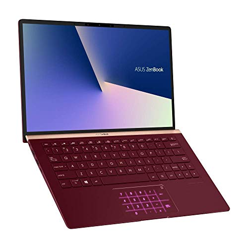 Asus Zenbook 13 UX333FN (90NB0JW6-M03460) 33, 7 cm (13.3 Zoll, FHD, Wv) Ultrabook (Intel Core i7-8565U, 16GB RAM, 1TB SSD, Nvidia GeForce MX150 (2GB), Windows 10) Burgundy Red