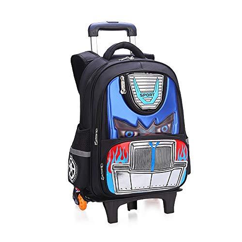 RENJUN Reiserucksack DREI Runden können Treppen steigen Hand in Hand große Kapazität wasserdichte Student Trolley Roller Rucksack (Color : Royal Blue, Size : 43x14x33cm) - Roller Roller Räder Royal Für