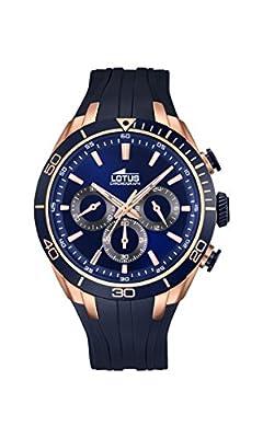 Lotus 18193/1 - Reloj de pulsera hombre, Caucho, color Azul de Lotus