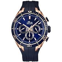 Lotus 18193/1 - Reloj de pulsera hombre, Caucho, color Azul