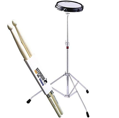 Dixon ÜBUNGSPAD MIT STÄNDER/ PRACTICE PAD + Keepdrum 5A Drumsticks
