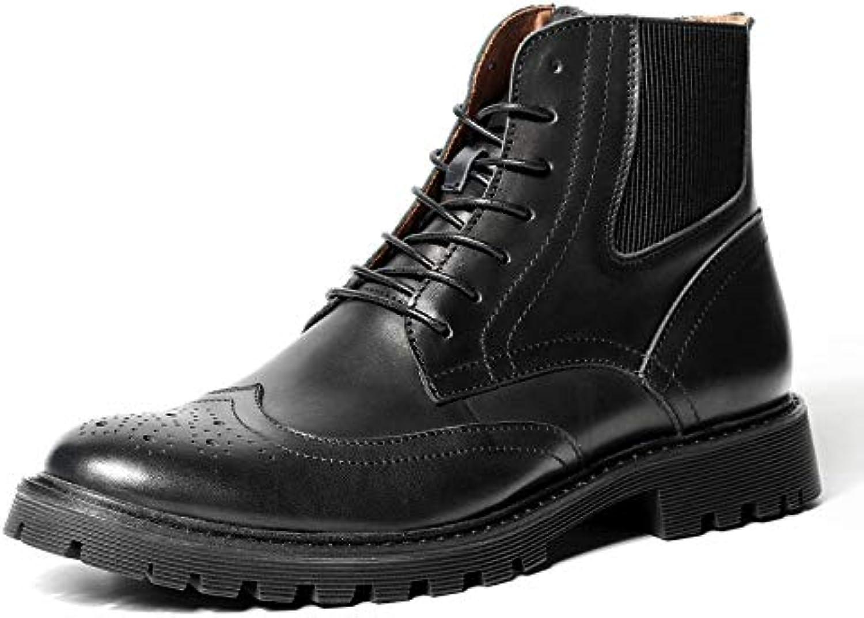 Botines Con Cordones De Cuero Genuino Para Hombre Clásicos Botines Negros Y Marrón