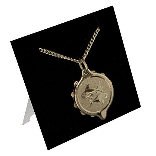SOS Talisman 222309 Fische Medizinisches Notfall-Halskette, Notfall-Anhänger, vergoldet, Diabetes, Epilepsie, Allergie, wasserdicht. (Medic Alert Gold)
