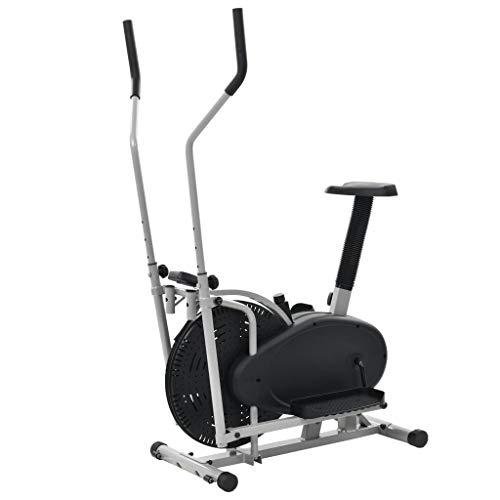 Festnight- Orbitrac Ellipsentrainer Elliptical Machine Cross Trainer für zuhause Gürtelwiderstand 50 cm