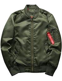 Betrothales Otoño Casual Collar Cazadoras Hombres Jacket Hombres Hombres Bomber Abrigos Stand Color Sólido Blouson Pilot