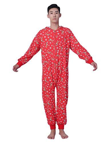 Pyjama Gedruckt Kapuzen Home Kleidung Overall Pyjamas Matching für Damen, Herren, Mädchen und Jungen ()