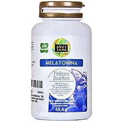 Melatonina para ayudar a conciliar el sueño – Amapola californiana, pasiflora, melisa, valeriana y tila para potenciar los efectos y ofrecer un sueño reparador – Antioxidante natural – 120 cápsulas