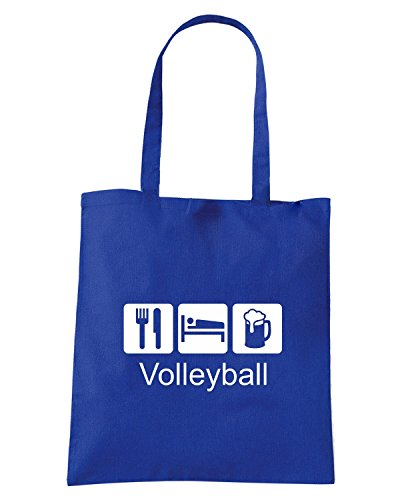 T-Shirtshock - Borsa Shopping T1079 volleyball sport Blu Royal