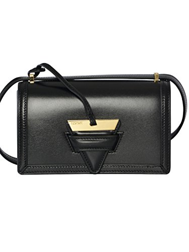 loewe-womens-30274p391100-black-leather-shoulder-bag