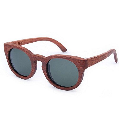 Yiph-Sunglass Sonnenbrillen Mode Herren Sonnenbrillen Retro Braun Holz Sonnenbrillen Handmade Polarized TAC Dark Lens Sonnenbrillen Katzenaugen UV Schutz Fahren Strand Sonnenbrillen