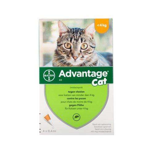 Advantage 40para gatos  4kg–4pipetas