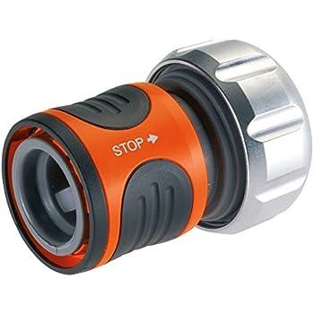 """GARDENA Premium Wasserstop, geeignet für 19 mm (3/4"""")/16 mm (5/8"""")-Schläuche, Gerät anstecken=Wasser frei, entkuppeln=Wasser stoppt automatisch, erspart den Gang zum Wasserhahn beim Gerätewechsel"""