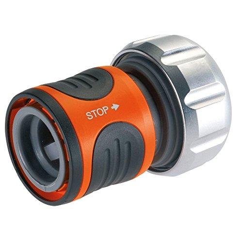 Gardena 816920 Raccord d'arrosage aqua stop Premium pour tuyau 19 mm, Orange
