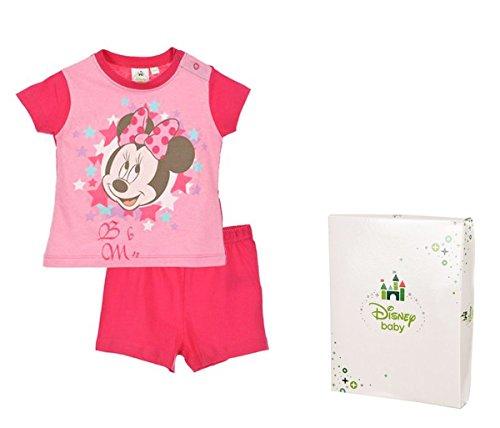 df438bd84cf09 Ensemble Pyjama court coton avec boite cadeau bébé fille Minnie de 12 à  30mois (12