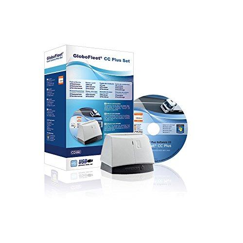 GloboFleet Card Control Plus Set, Starterset zum auslesen, auswerten und archivieren der Fahrerkarte mit Verstoßauswertung, Chipkartenleser