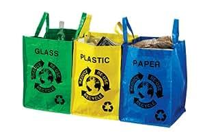 Premier Housewares Recycling-Taschen für Plastik, Glas und Papier