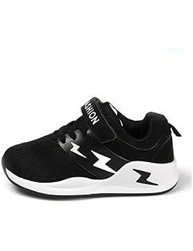 Unisex-Kinder Sneaker Sportschuhe Hohl Klettverschluss Abriebfest Rutschfest Atmungsaktiv Ultraleicht Weiches...
