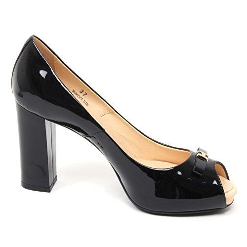 B4691 decollete donna HOGAN H204 scarpa nera spuntata shoe woman Nero