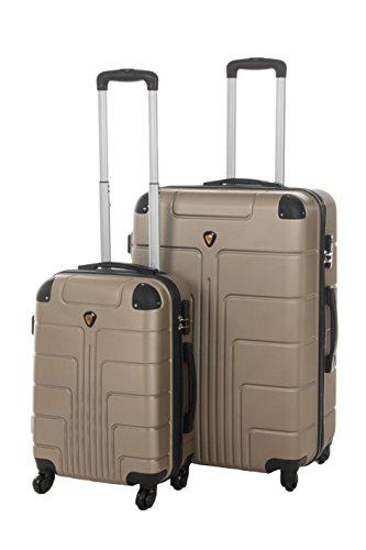 Hartschale Kofferset New York 2-teilig Gr. M+L, 56+65, 42+68 Liter 7 verschiedene Farben (braun)