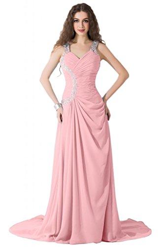 Sunvary modesta Spaghetti, cinghia e corsetto abiti per abiti da sera Pageant sera Rosa