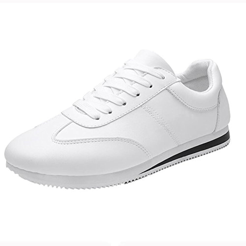 Unbekannt YIXINY Schuhe Sneaker Laufschuhe Männer PU Wild Atmungsaktiv  weissszlig  Schwarz  Rot (Farbe : weissszlig  Größe