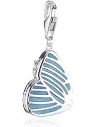 Esprit Jewels Damen-Charm turquoise butterfly 925 Sterling Silber ESCH91249A000