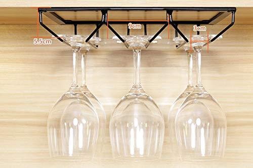 AK Nordic Eisen Schwarz Weinregal Becherhalter Becherhalter Rotwein Glashalter, Multifunktions Barschrank Schrank Ornamente,70CM