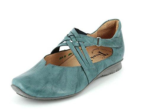 Think Chilli 86108-88Femme Ballerine & Barrette à chaussures en Mittel Bleu - Bleu
