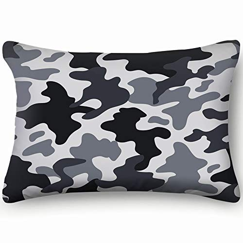Urban Camo Bdu (dfgi modern Fashion trendy camo Decorative Pillow Cover Soft and Cozy, Standard Size 20