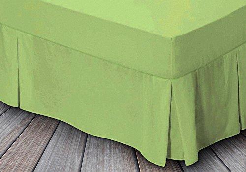 Leinen Zone Easy Care Spannbetttuch Querbehang Bett Extra tief Plissee, grün, Super King