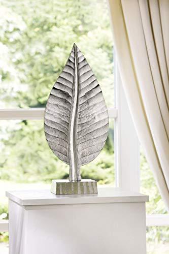 Soma Alu Skulptur Blatt (BxHxT) 23 x 52 x 0 cm Silber -