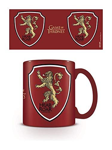 Game of Thrones GP85143 Lannister - Juego de taza, posavasos y llavero, multicolor