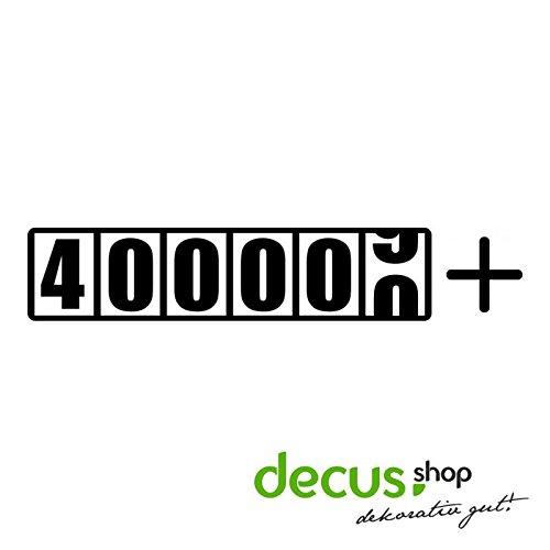 400000 + KILOMETER TACHO L 1172 // Sticker OEM JDM Style Aufkleber (Weiß)
