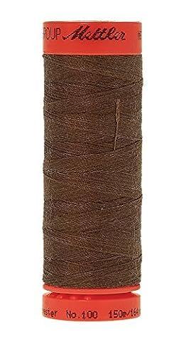 Mettler Metrosene 100% Core Spun Polyester 50 Weight Thread, 165 yd, Dark Pecan by Mettler