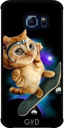 Hülle für Samsung Galaxy S6 EDGE (SM-G925) - Skateboard Katze by Adam Lawless (Adams Skateboard)