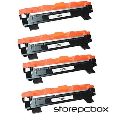 Storepcbox - SET 4 Toner TN1050 Compatibile con Brother DCP-1510, MFC-1810, HL-1110, HL-1112, DCP-1610W, DCP-1612W, HL-1210W, HL-1212W, MFC-1910, 1000 PAGINE Colore Nero TN 1050 MULTI-PACK 4 PEZZI