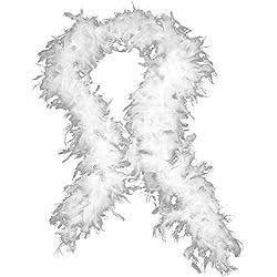 Oliviavan Boa de Plumes uni Carnaval Fete Disponible en Neuf Coloris Blanc Black Noir Bleu Vert Rose Vif Rose Violet Rouge Blanc Jaune Atelier Mascarade Masked Ball Anniversaire