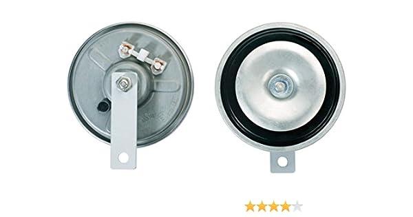 Quantity: 2 B36-12V Housing Colour: Grey 116dB A HELLA 3BB 002 768-661 Air Horn Flat Plug-in Connector - Frequency Range: 335Hz//400Hz Set