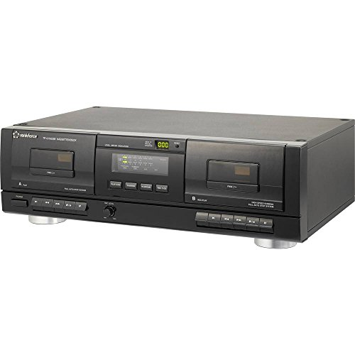 Tape Deck Renkforce TP-1010USB Schwarz Doppel-Kassettendeck, USB zum Digitalisieren - Cassette Tape Deck