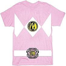 The Power Rangers Pinkes Rangers Disfraz Camiseta de té