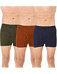Clever Men's Modern Multi Cotton Trunk Pack of 3