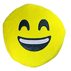 A-Mart Soft toy sling bag smiley emoji smiles yellow for kids girls 8 inch