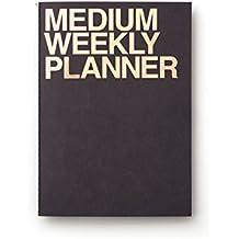 Jstory Medium Personal Wide Spaces Weekly Planner 28 Sheets Black