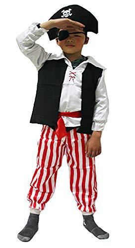Für Immer Junge Jungen Piraten Kostüm Kind Kleinkind Kinder Kostüm Karneval Karibik Piratenkapitän Buccaneer 7-8 Jahre